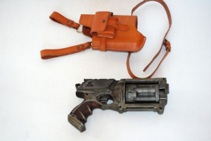 Nerf Maverick N-Strike Painted Custom Tactical COSPLAY + Leder-Holster Steampunk